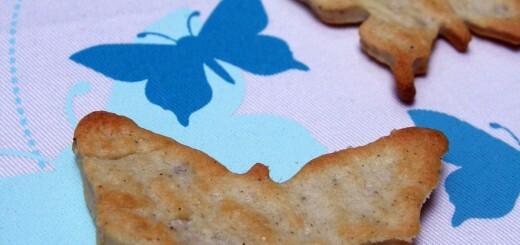 Sablés papillons au roquefort