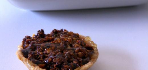Tartelettes poires - noix de pécan au miel de thym
