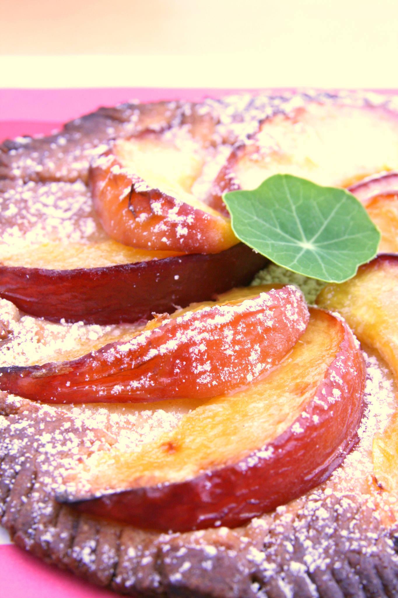 Tarte fine à la nectarine et au gingembre