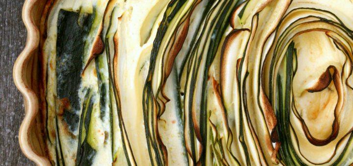 Tartatou spirale de courgettes au brocciu