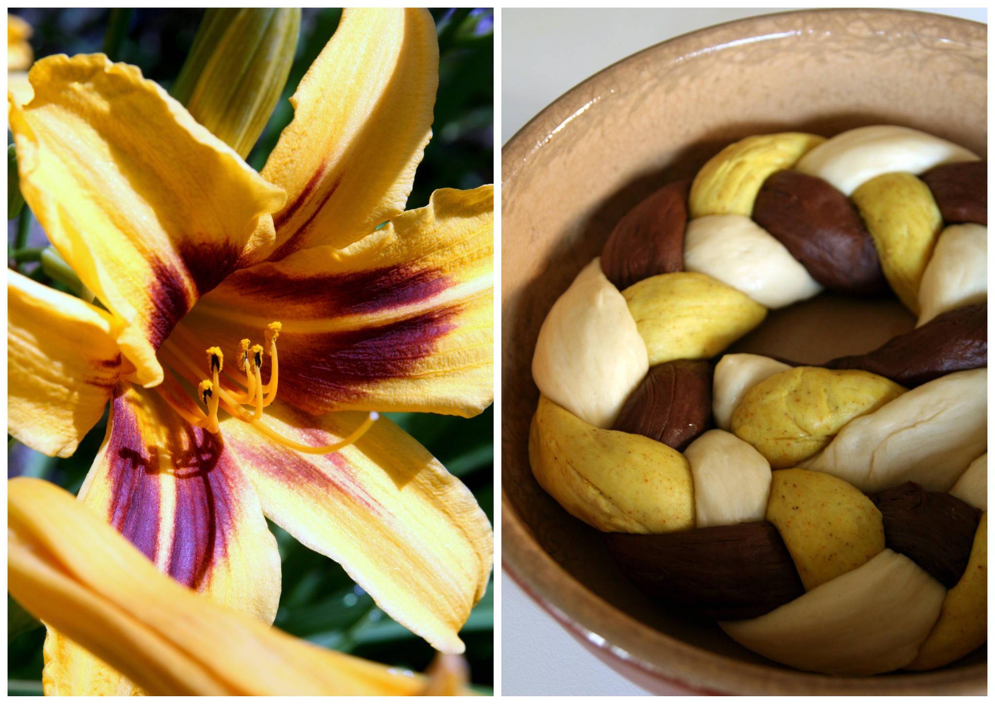 Brioche tressée curry-cacao