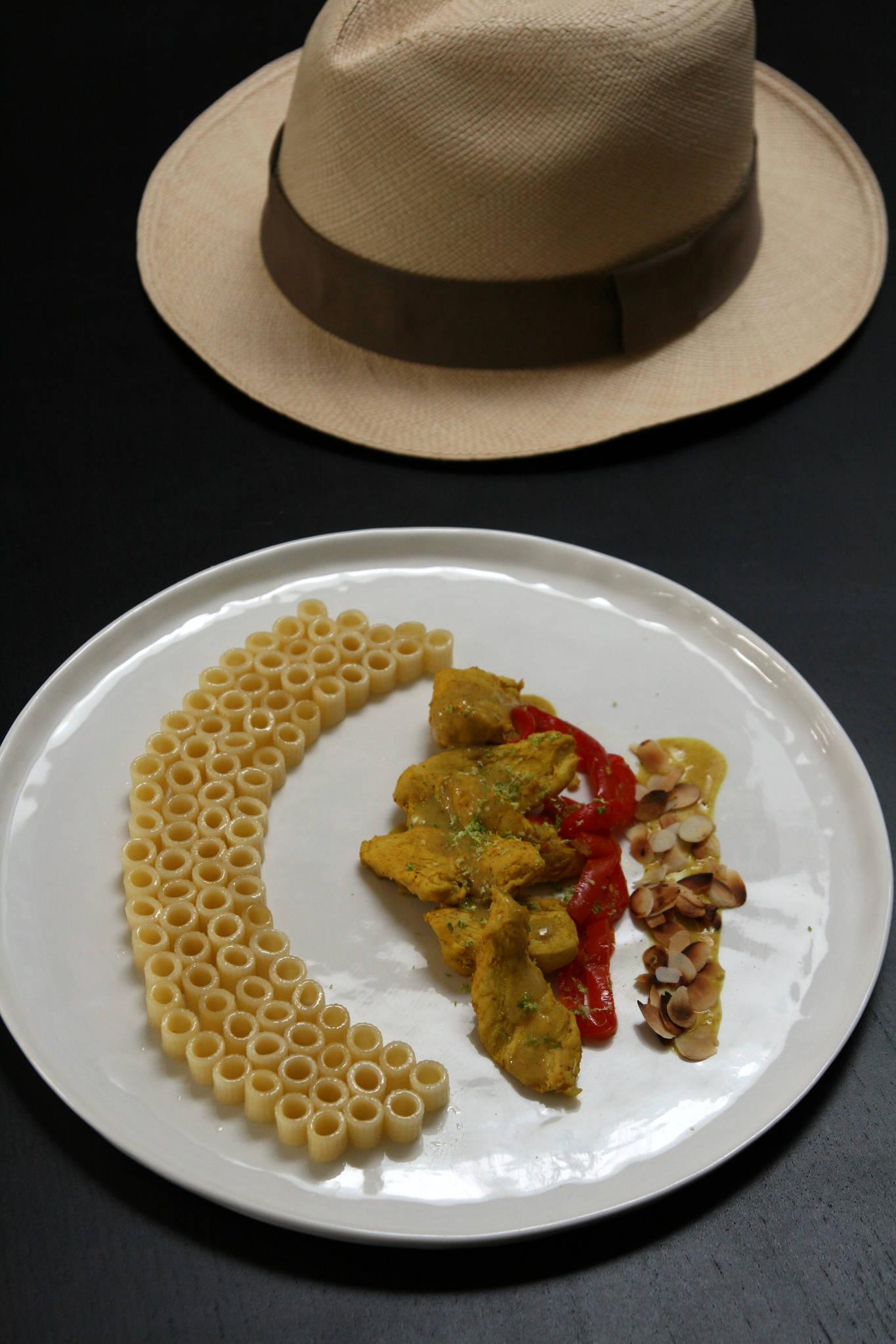 Poulet au curry et aux poivrons