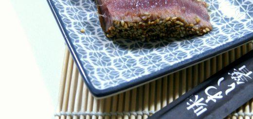 Thon mi-cuit au soja et graines de sésame