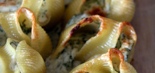 Lumaconi ricotta et gorgonzola à l'aneth