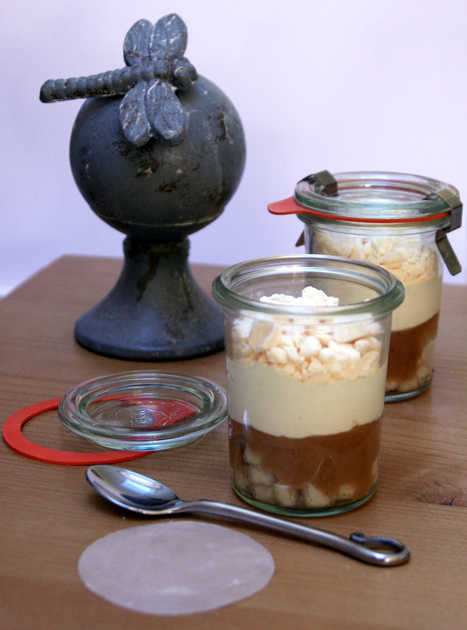 Verrine inspiration Mont-Blanc : poire & marron