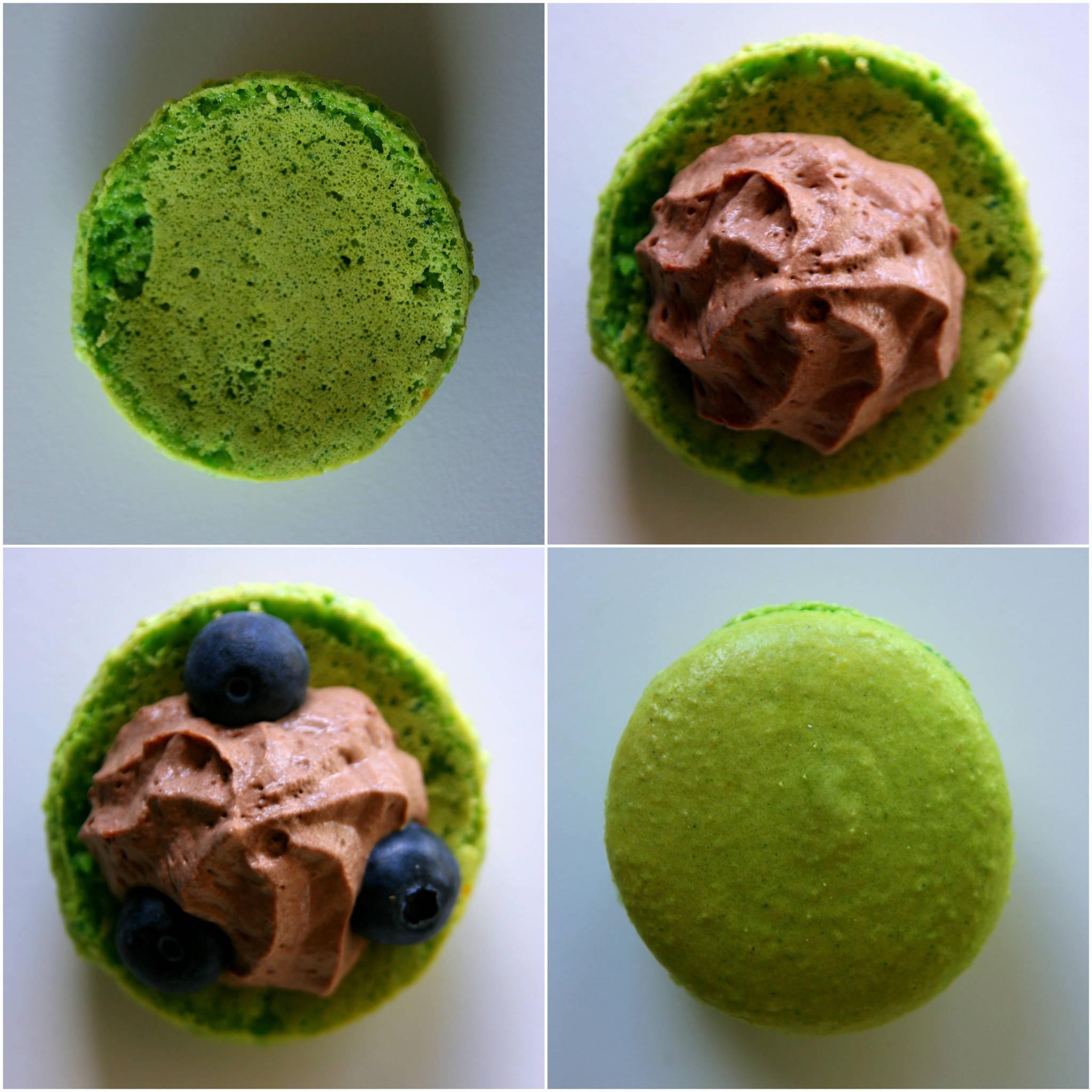 Macaron chocolat/myrtilles