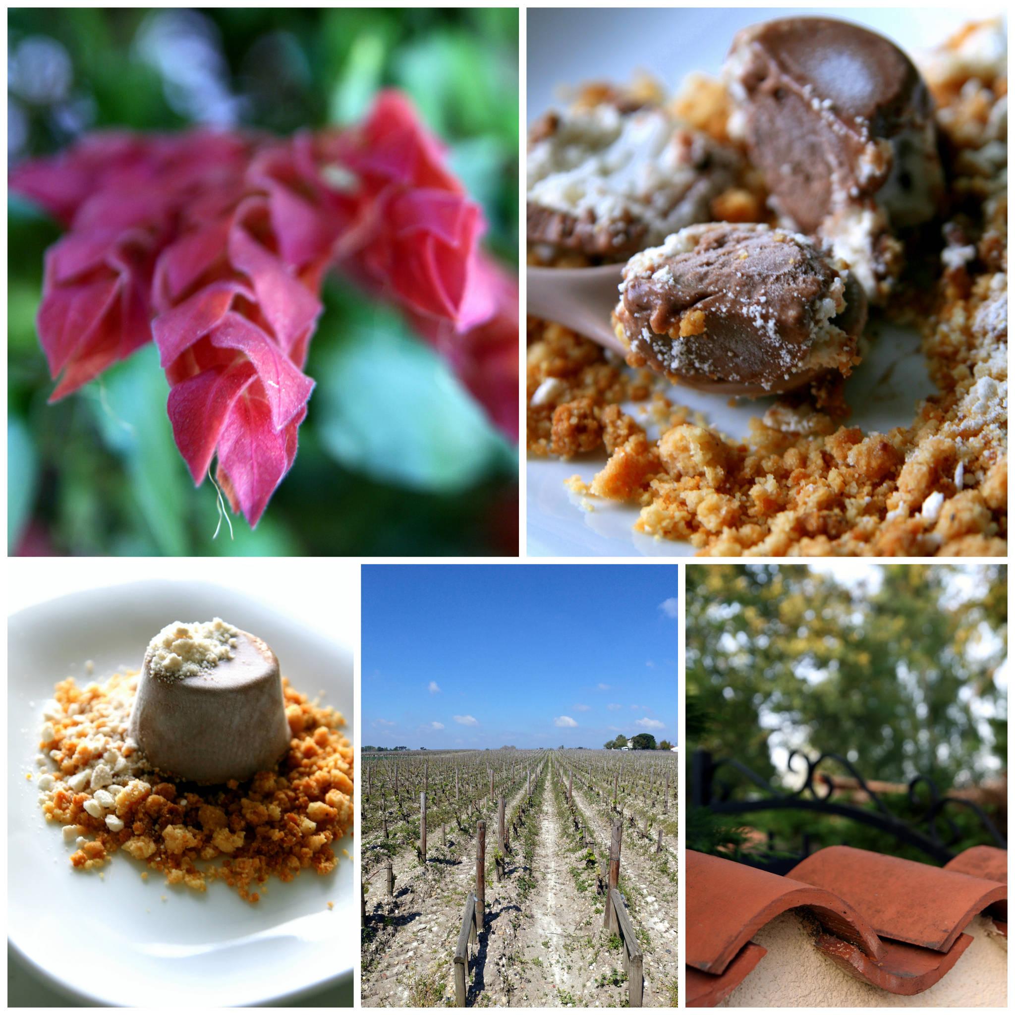 Entremets glacé aux haricots de Soissons, cacao & whisky, coeur de meringue, crumble à la muscade