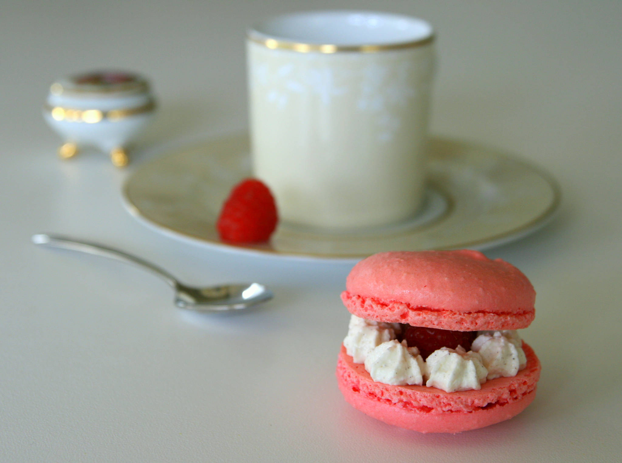 Macaron chantilly & framboise