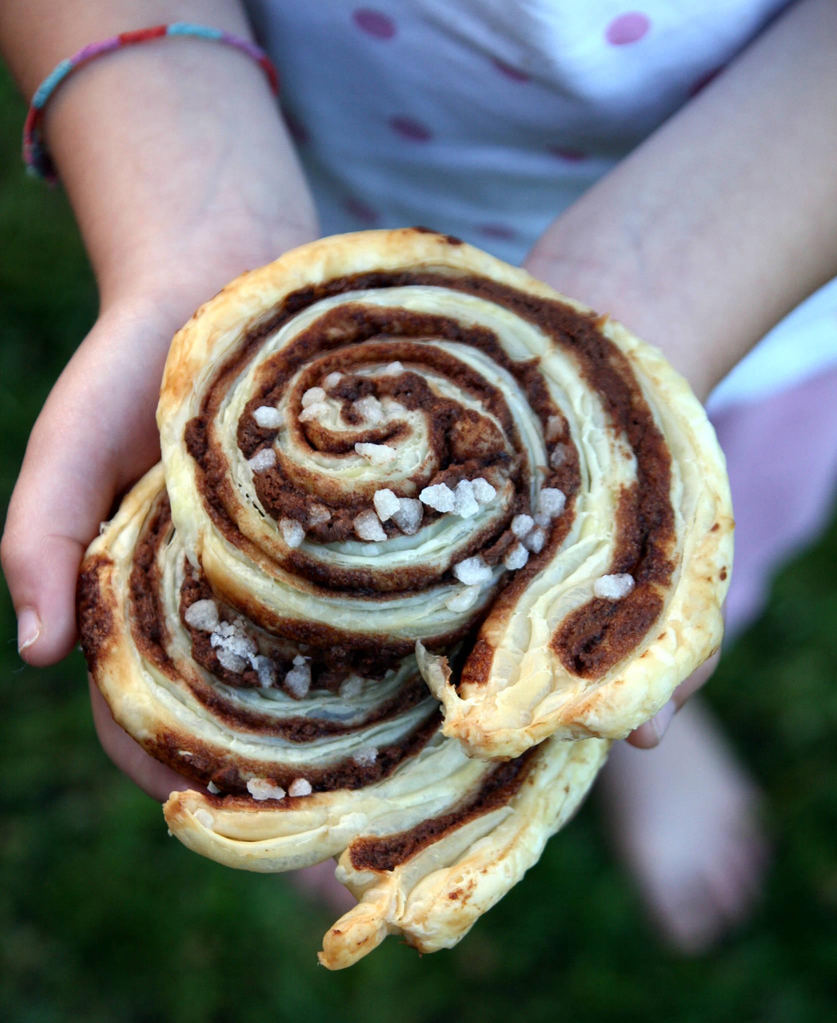 Escargots feuilletés au Nutella