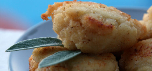 Boulettes ricotta et parmesan, beurre de sauge