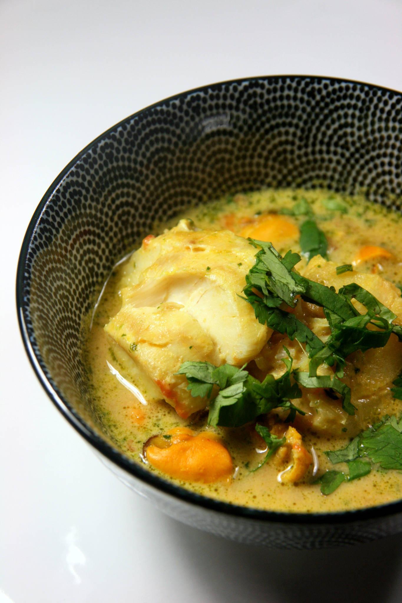 Curry de cabillaud aux moules