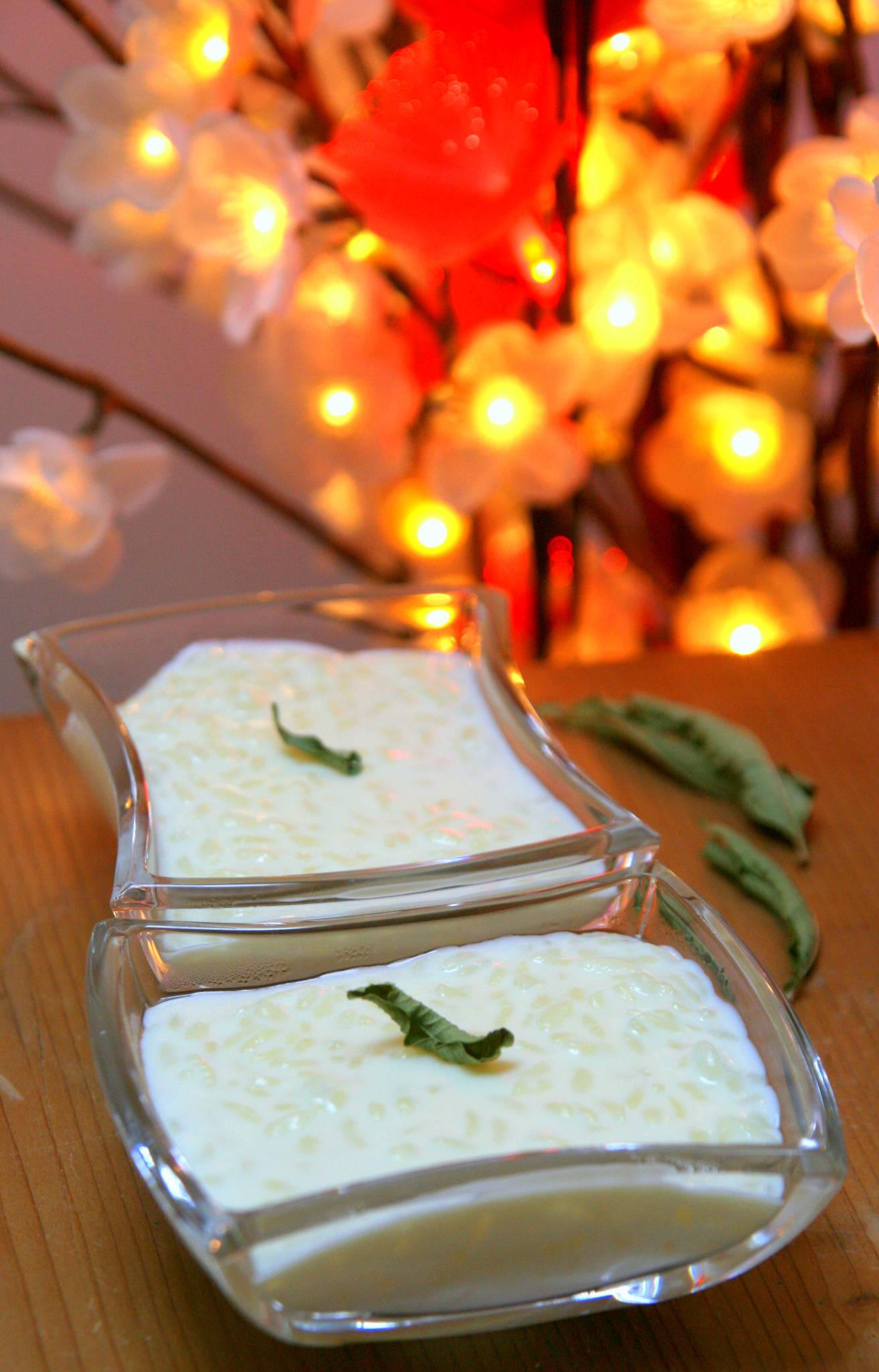 Riz au lait infusé à la verveine