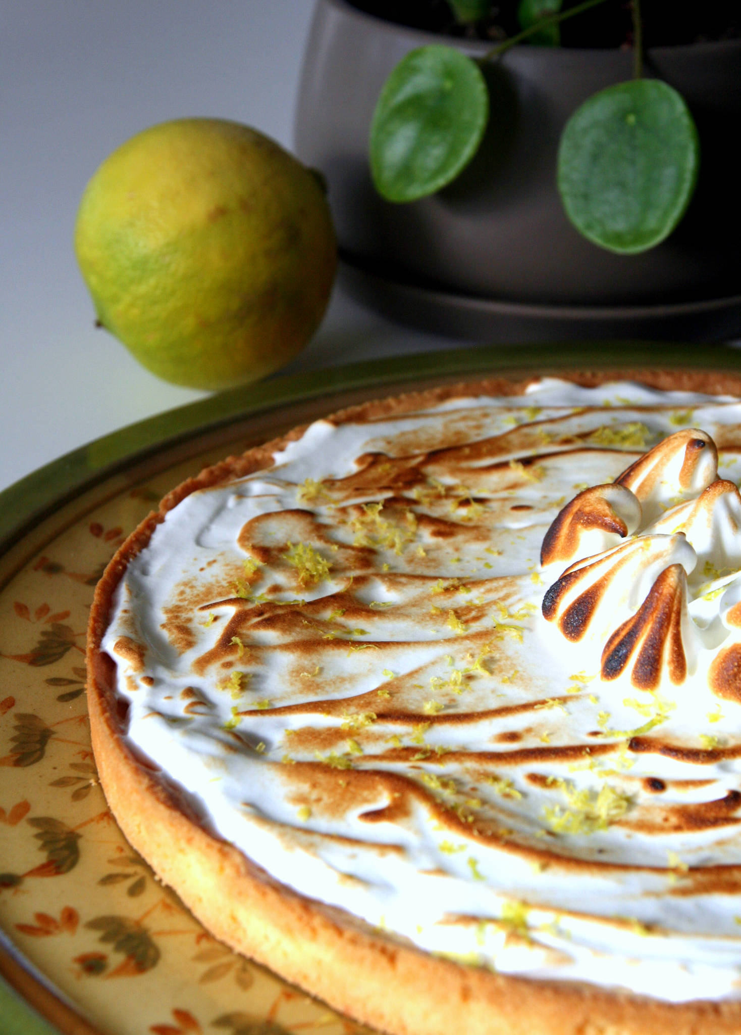 Tarte meringuée au citron bergamote