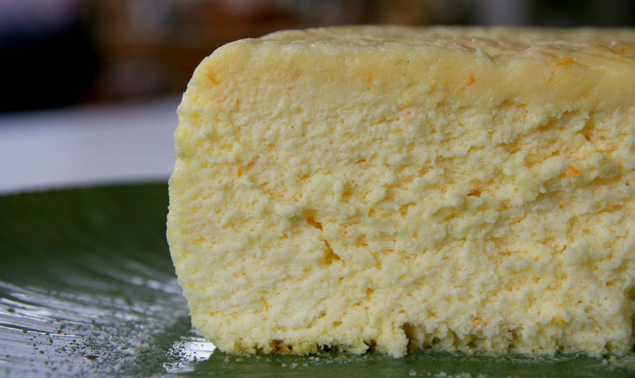 Cheesecake japonais à la mandarine