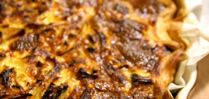 Tarte gourmande aux poireaux & curry