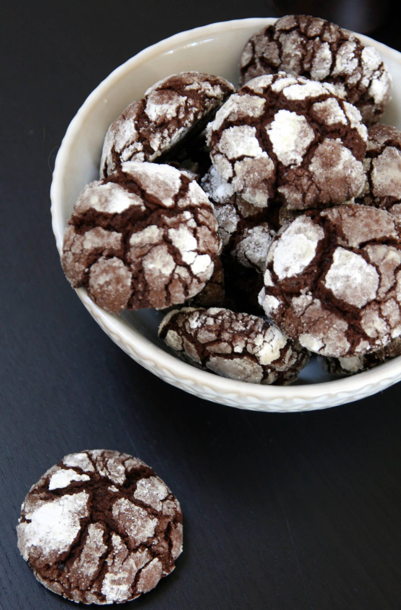 Crinkles au chocolat de Martha Stewart