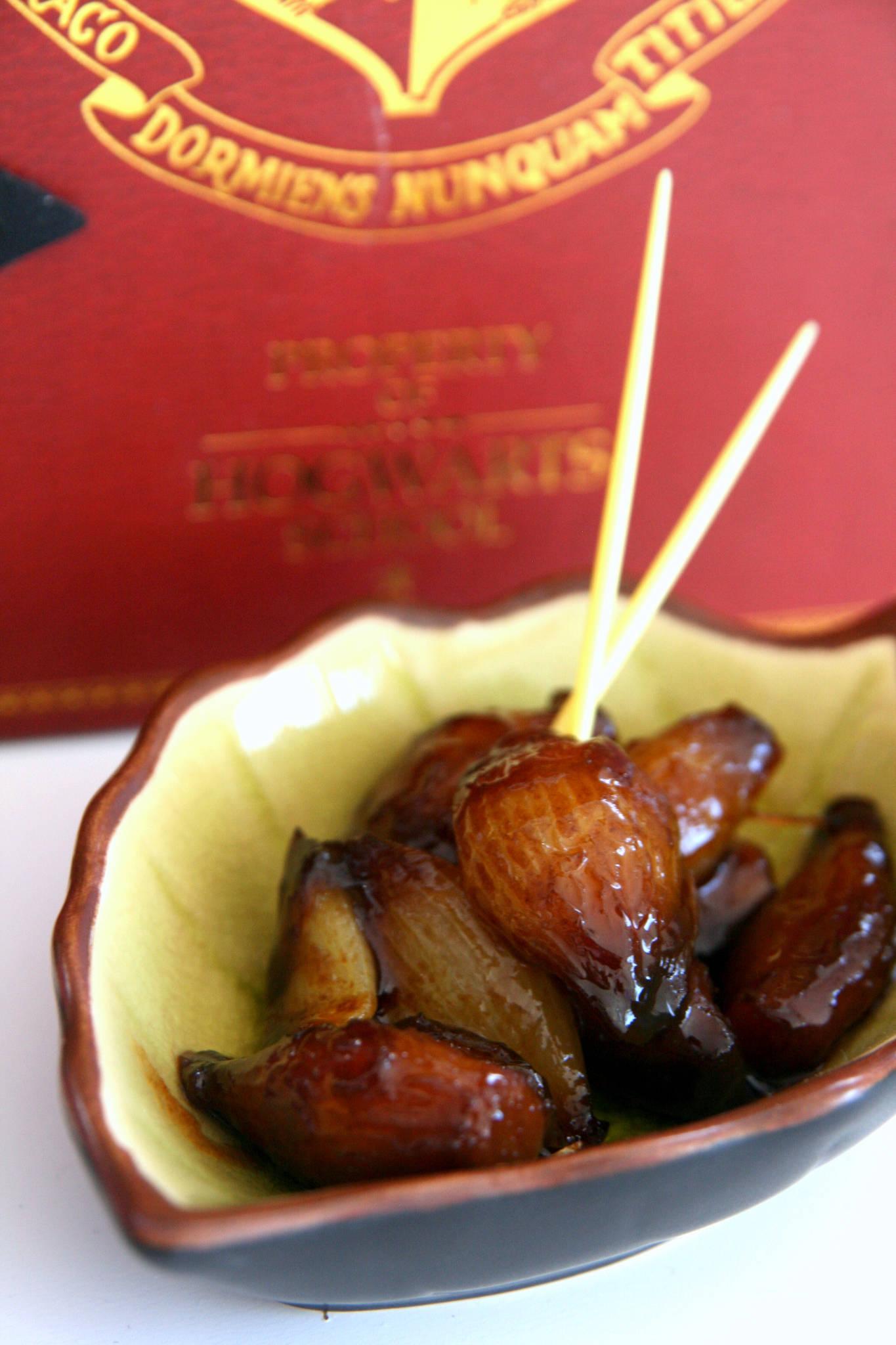 Oignons grelots confits au curry
