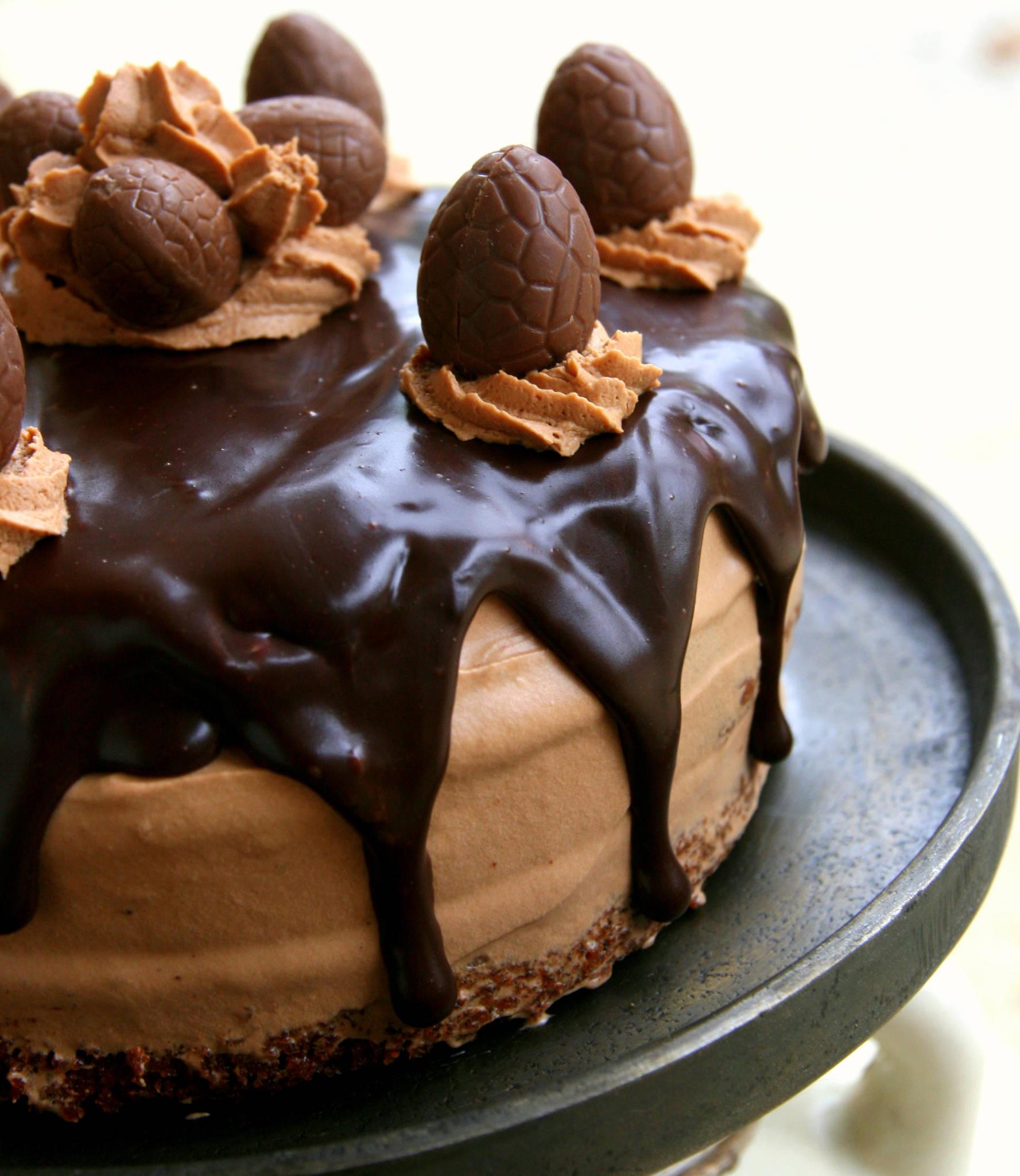 Layer cake chocolat & amande (sans gluten)