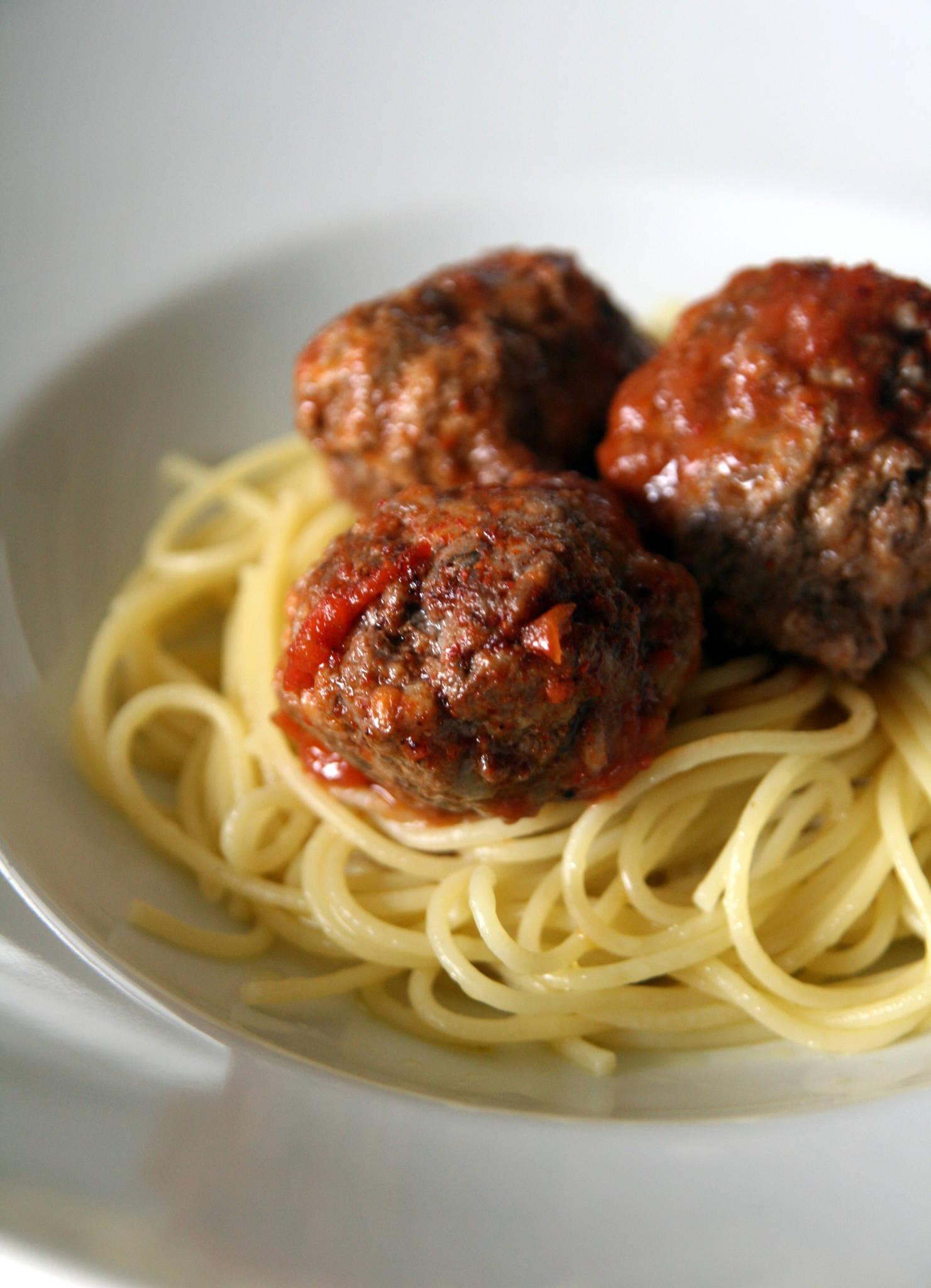 Spaghetti boulettes