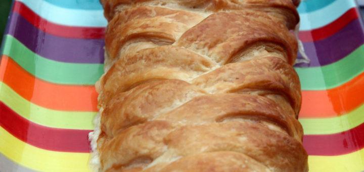 Tresse au saumon fumé et à la mozzarella