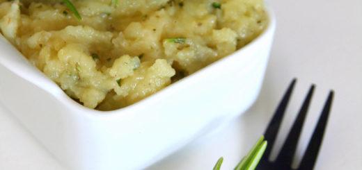 Ecrasée de pommes de terre au beurre de romarin