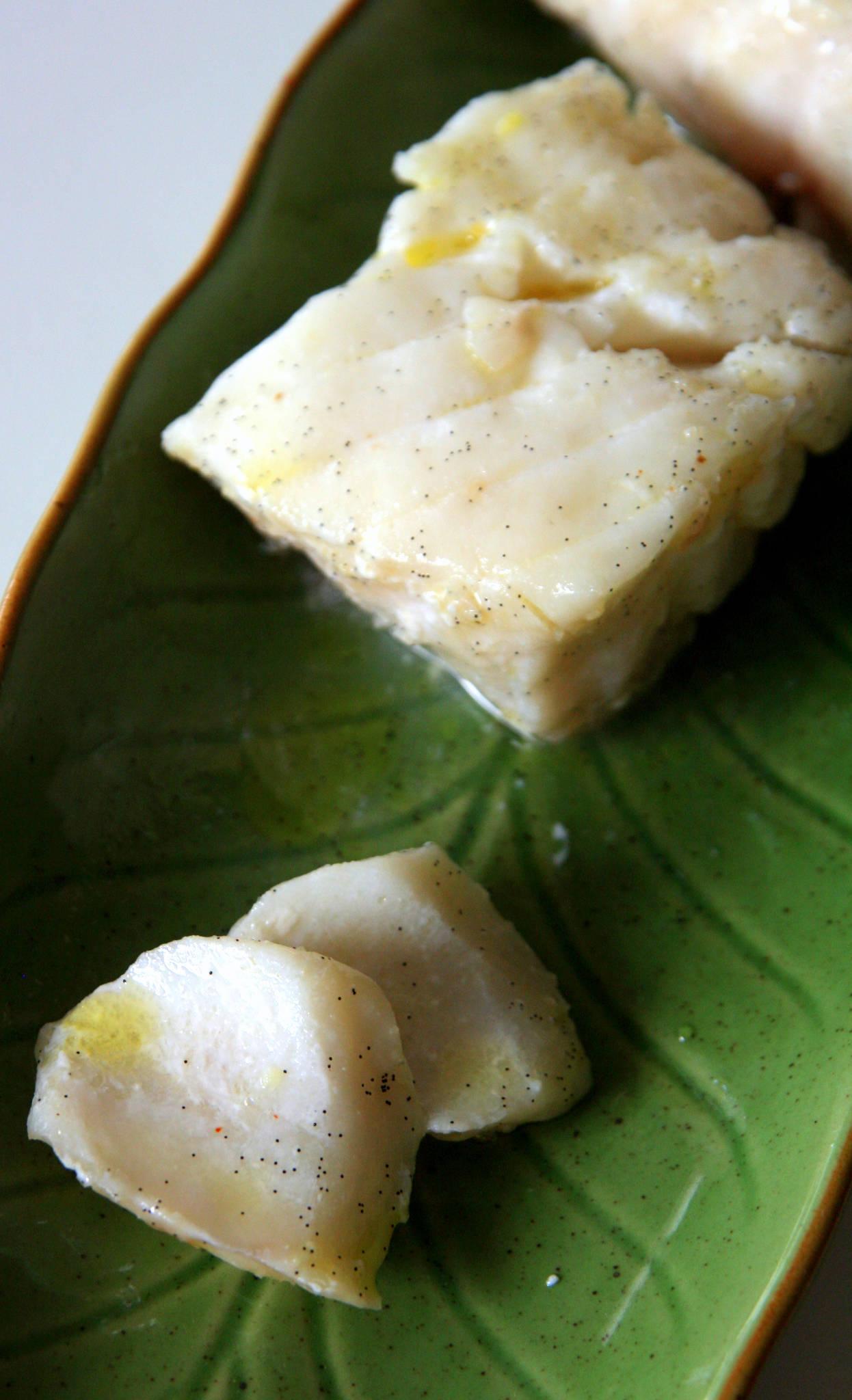Cabillaud au gingembre et à la vanille