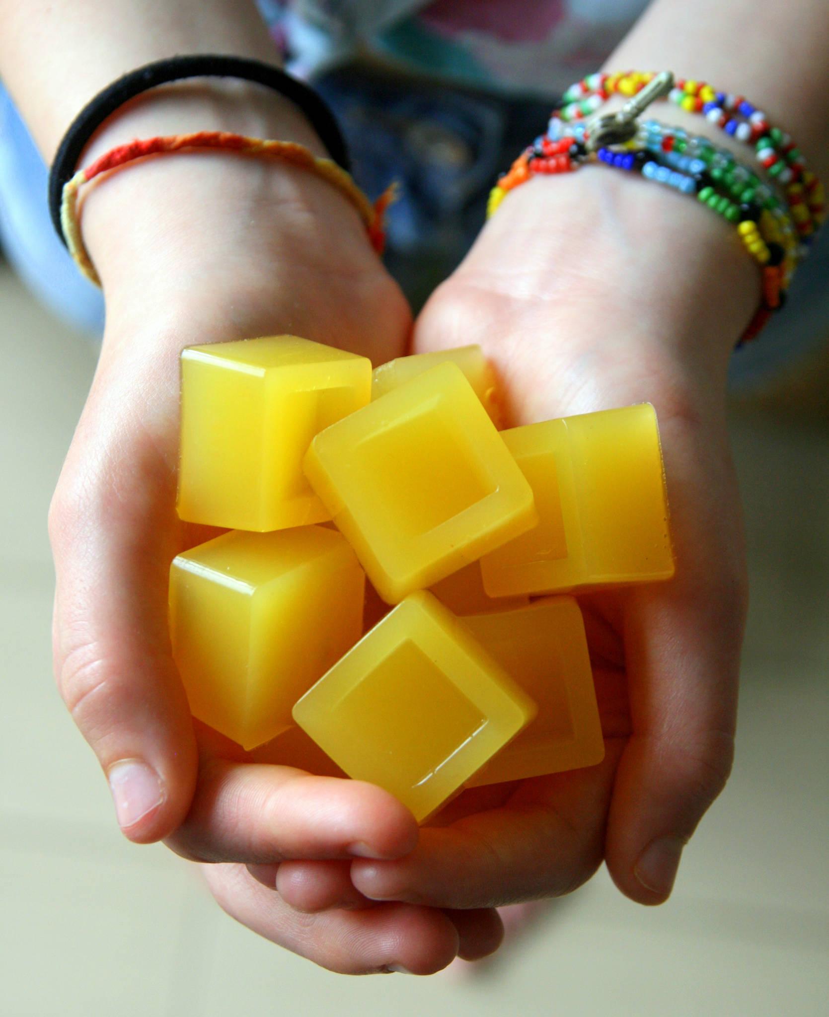 Bonbons gélifiés au jus d'orange
