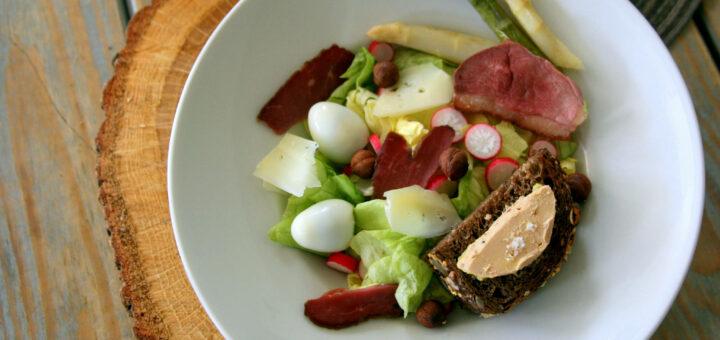 Inspiration salade landaise, Initiales rouge 2016