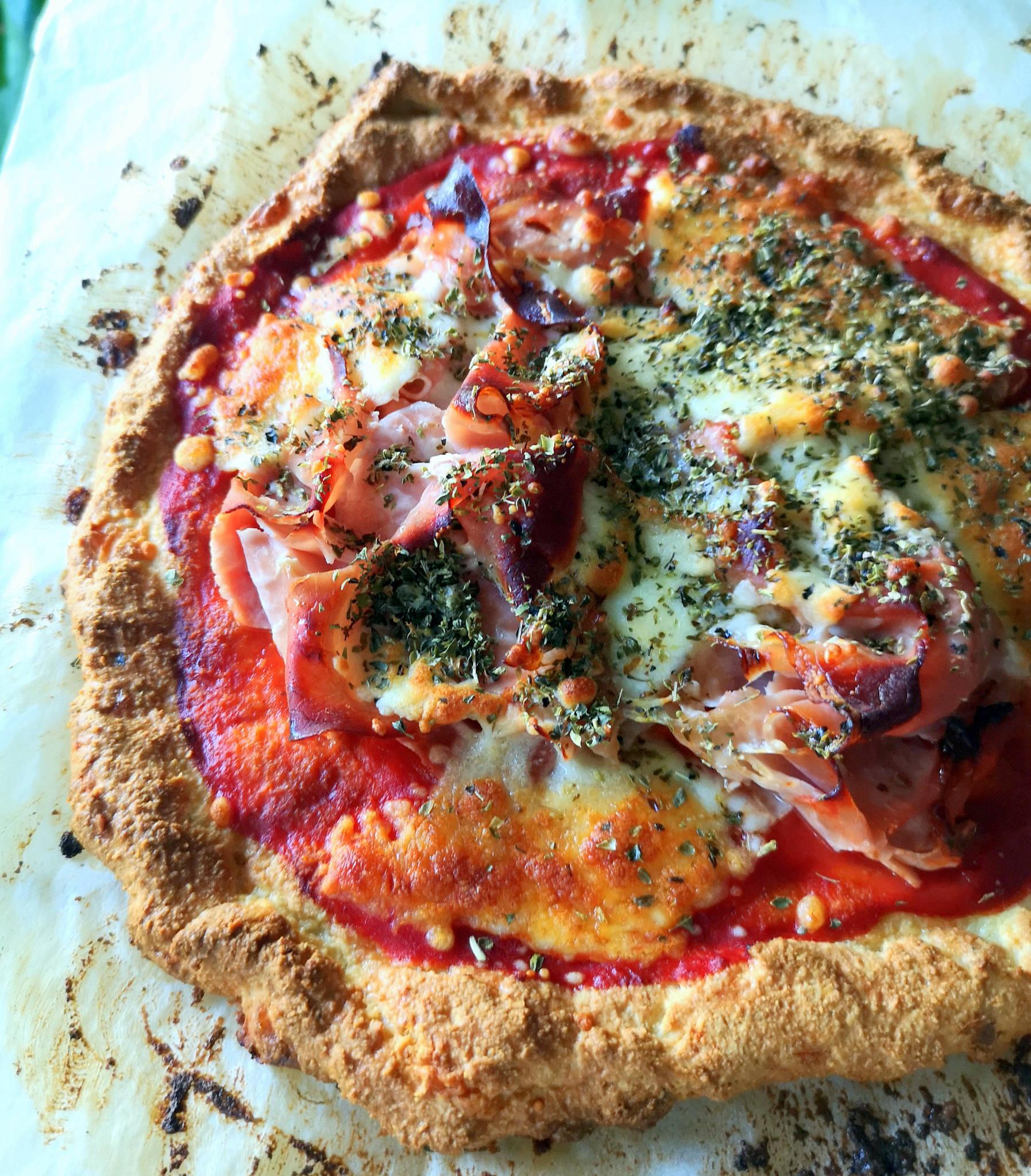 Pizza pâte keto